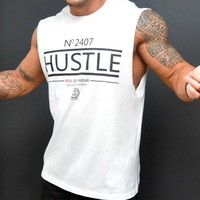 N 2407 HUSTLE FKN GYM WEAR Sleeveless Tee