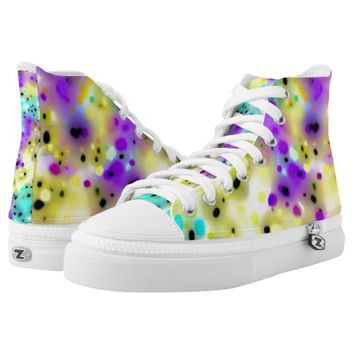 Abstract Psychedelic Paint Splatters Printed Shoes