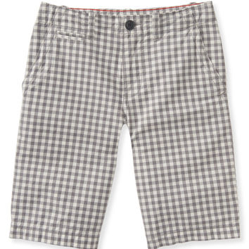 PS from Aero  Kids' Gingham Flat-Front Shorts