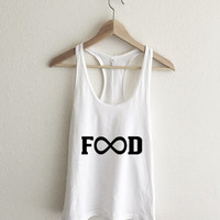 Unlimited Food Infinity symbol Racerback Tank Top