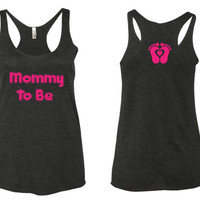 Mommy To Be Tank Top. Mommy Fitness tank top. mommy to be shirt. mommy fitness. gym shirt