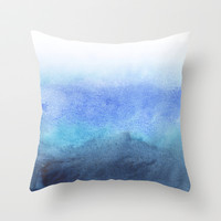 Fade Throw Pillow by Rebecca Allen