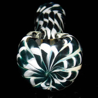Checkered Flag Pattern Inside Out Black and White Glass Pipe - Heady & Versatile