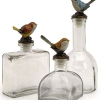 Maco Bird Bottles - Set of 3 - Table Accents -  Home Accents -  Home Decor | HomeDecorators.com