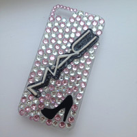 Pink & Silver Makeup Cosmetics Crystallised Sparkly Bling iPhone 5 Protective Cell Phone Case Cover