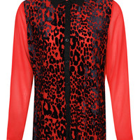 Boutique Annabel Leopard Georgette Shirt