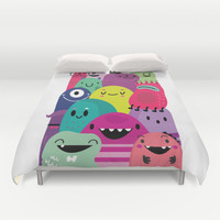 Pile of awesome Duvet Cover by Maria Jose Da Luz | Society6