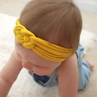 Remarkable Soft Yellow Nautical Knot Headband