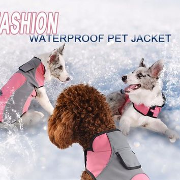 Waterproof Fleece Lined Doggie Coat Pink Raincoat 6 sizes GREAT PRICE!