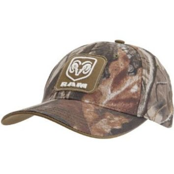 Dodge - Mens Dodge - Ram Patch Logo Camo Adjustable Baseball Cap Multi