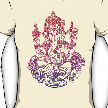 Ombre Indian Ganesh Elephant T-shirt Women's T-Shirt
