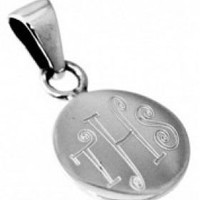 Sterling Silver Small Round Disc Charm