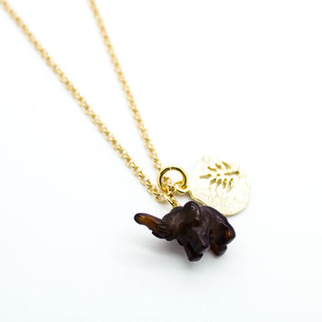 Elephant stone necklace