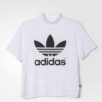 adidas Berlin Trefoil High-Neck Tee - White | adidas US