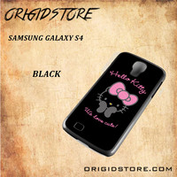 Hello Kitty Snap on 2D Black and White Or 3D Suitable With Image For Samsung Galaxy S4 Case