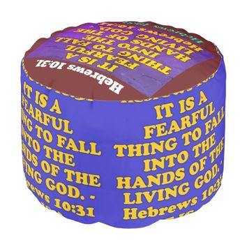 Bible verse from Hebrews 10:31. Pouf