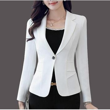 Womens Single Button Slim Fit Blazer