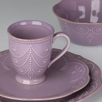 French Perle Violet 4-Piece Place Setting by Lenox