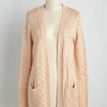 Breakfast in Bedfordshire Cardigan in Blush | Mod Retro Vintage Sweaters | ModCloth.com