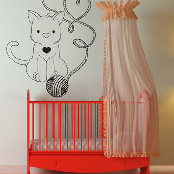 Vinyl Wall Decal Sticker Love Cat #1521