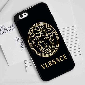 versace black and gold 2 iPhone 7 | 7 Plus Case Planetscase.com
