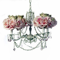 Pink Rose Chandelier, Gilbert Design Chandelier