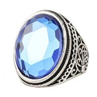 New Hot Women Vintage Retro Old Silver Ring Womens Fashion Casual Jewelry Unique Best Gift Rings-29