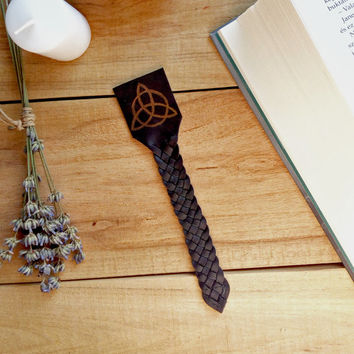 Triquetra bookmark, Wiccan bookmark, Magic bookmark, Mythic bookmark, Celtic bookmark