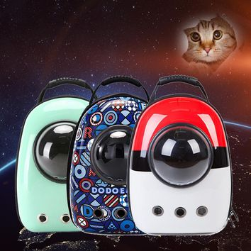 Cat Dog Space Capsule Pet Cat Dog Backpack Window for Kitty Puppy Small Cat Dog Carrier transport Outdoor Travel BagKawaii Pokemon go  AT_89_9