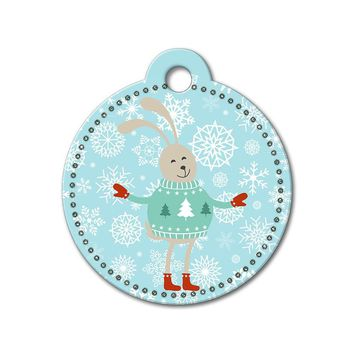 Bunny Holiday Dog Tag