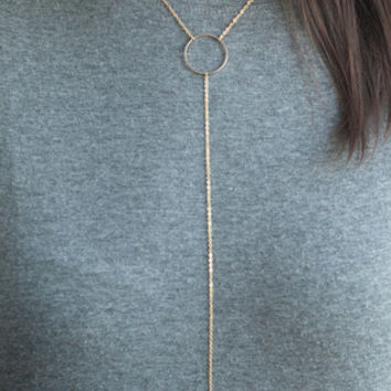Gold Tassel Embellished Necklace
