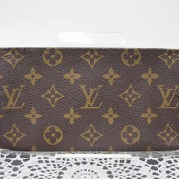 Authentic Louis Vuitton Cosmetic Pouch Bucket Pouch Browns Monogram 41630