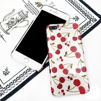 Cherry Print Phone Case for iPhone
