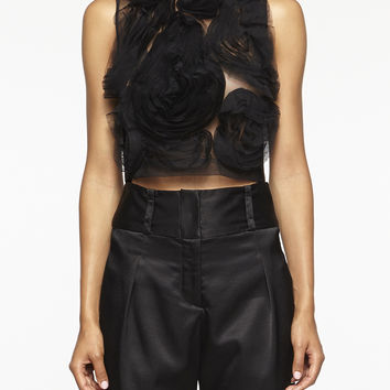 Tulle Crop Top