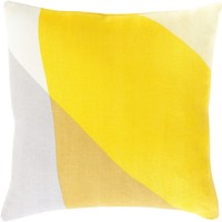 Teori Throw Pillow Yellow, Yellow