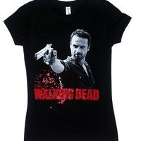 Rick And Pistol- Walking Dead Juniors T-shirt