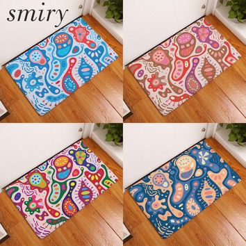 Autumn Fall welcome door mat doormat Smiry commercial entrance s colorful cashew flowers carpets water absorption living room bedroom decoration stair rugs AT_76_7