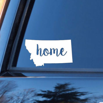 Montana Home Decal | Montana State Decal | Homestate Decals | Love Sticker | Love Decal  | Car Decal | Car Stickers | 118