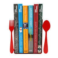 Bookends -Fork and spoon- laser cut for precision these bookends will hold your favorite cookbooks