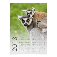 2013 mother and child lemur calendar print from Zazzle.com