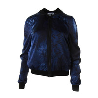 T Tahari Womens Flynn Satin Printed Jacket