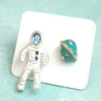 Astronaut Stud Earrings