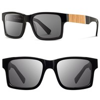 Men's Shwood 'Haystack' 52mm Polarized Wood Sunglasses
