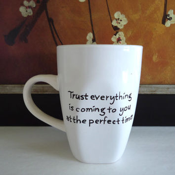 Personalized coffee mug, personalized quote, hand painted coffee mug, coffee cup, tea cup, custom mug, personalized gifts, ready to ship