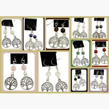 Jeweled Tree of Life Earrings