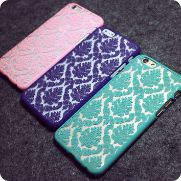 Vintage Lace Floral iPhone 4 4S 5 5S  6 6s 6 6s Plus Case Cover