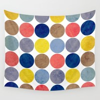 Round and Round Wall Tapestry by Miss L In Art
