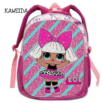 Kid Backpack LOL School Bag for Kindegarten Girls Cute Small Glam Glitter LOL Pets Unicorn Dolls Schoolbag Book Bags mochila 14""