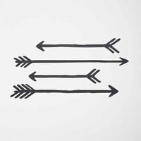 Arrow Wall Decal Set- Black One