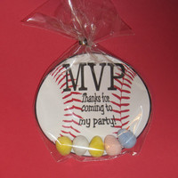 Baseball Favor,kids party-Fish Bowl,candy treat,party favor, birthday favor,Bags and ties INCLUDED
